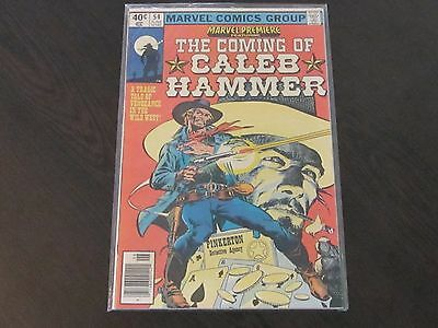Marvel Premier the Coming of Caleb Hammer News Stand Issue #54 1980