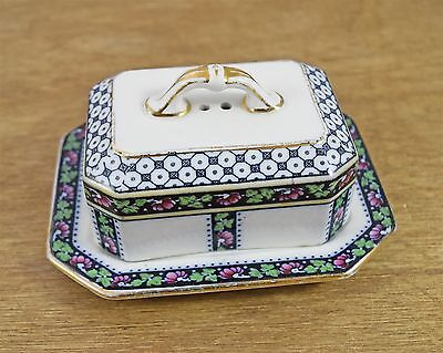 Vintage Good Condition Losol Ware Ornate Butter Dish