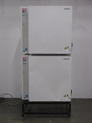 Kendro Laboratory Heraeus BB 6220 CU O2 Gas Jacketed CO2 Incubator Double Stack