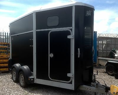 Ifor Williams 511 Double Horse Trailer, Black. Credit Cards Accepted