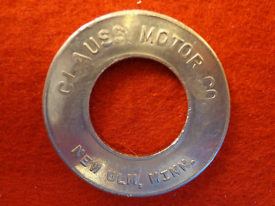 Clauss Motor Co. New Ulm Minn Good Luck Token