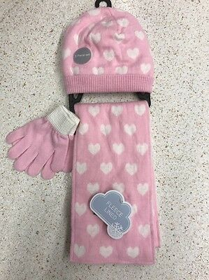 girls hat scarf and gloves set Size 4-8years / 104-128cm