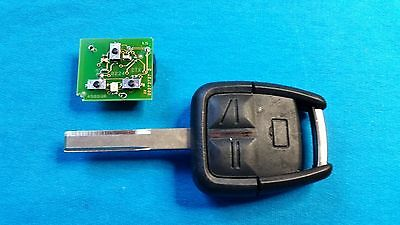 Vauxhall Vectra C Signum 3 Button Remote Key Fob  & Blade Ready To Be Programmed