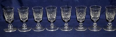 Eight Crystal Cut Glass Liqueur Glasses