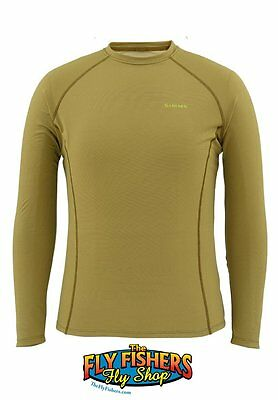 Simms WaderWick Core Crewneck Top - Army Green - L - NEW - DISCOUNTED