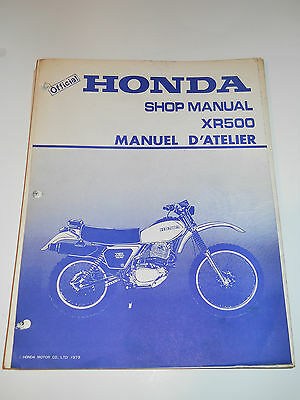 HONDA XR500 with 1979-1980 OFFICIAL SHOP SERVICE MANUAL