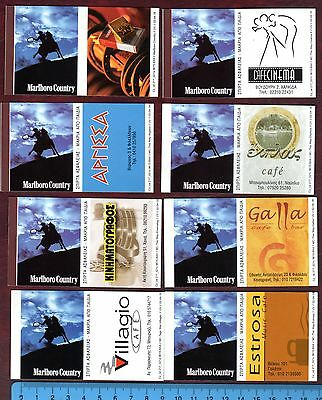 MATCHBOX LABELS-POLAND-Marlboro advertising set, standard size, ARTB in Greek