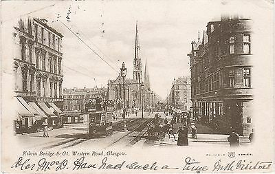 Kelvin Bridge & Great Western Road. GLASGOW, Lanarkshire