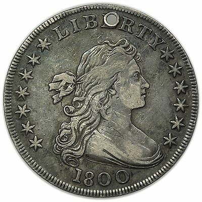 1800 Draped Bust Dollar Holed, Very Rare Circulated Silver Early Coin [3206.49]