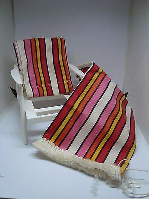 Awesome BARBIE LAWN CHAIR and COVERS! Must See! VINTAGE!