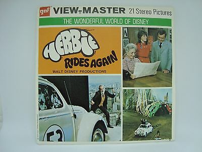 HERBIE RIDES AGAIN! View master Reel Set! COMPLETE!! Must See!
