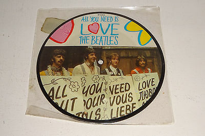 "The Beatles All You Need Is Love 1987 Parlophone Uk 7"" Picture Disc"