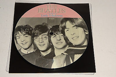 "THE BEATLES LADY MADONNA 1988 PARLOPHONE UK 7"" PICTURE DISC w/insert"