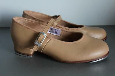 Bloch Tap-On Tap Shoes Girls Size 12 Tan Colour Vgc Only Lightly Worn