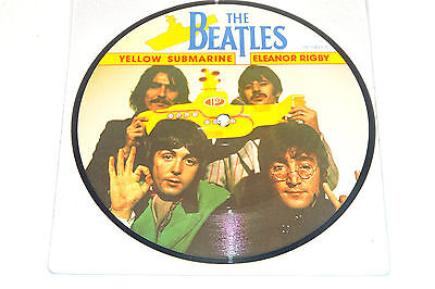 "The Beatles Yellow Submarine 1986 Parlophone Uk 7"" Picture Disc"