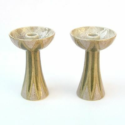Mid-Century Charles Murphy Red Wing Sgraffito Candleholders Limited Edition