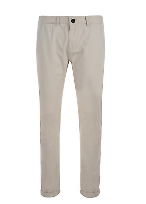Men's 100% Cotton Slim Fit Stone Chinos Trousers Pants Uk Sizes 30, 32, 34, 36