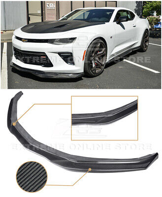 For 16-18 Camaro SS | EOS T6 Style CARBON FIBER Front Bumper Lip Wing Splitter