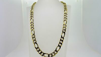 9ct Yellow Gold Chain 55.4 cm Figaro Link 127.8 Grams