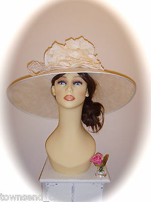 Mother of Bride Ascot Occasion Wedding Gwyther Snoxell Statement Hat, Ivory