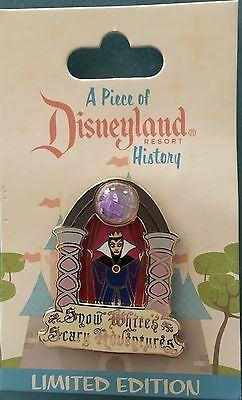 Disney DLR Piece Of Disneyland History SNOW WHITE'S SCARY ADVENTURES LE Pin NEW