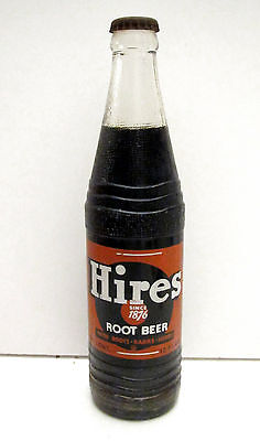 1940's HIRES Root Beer 12 oz FULL Bottle - ACL Label