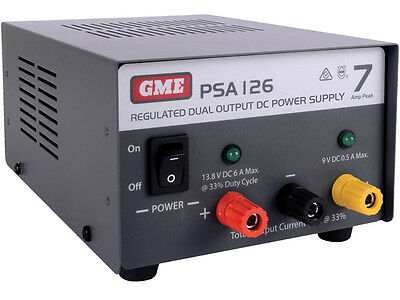 GME PSA126 7 Amp Regulated DC Power Supply