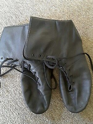Bloch Size 9 Hard Sole Leather Boots Jazz, Marching, Cheer
