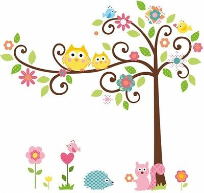 Mega-Pack Scroll Tree Stickers Removable Kids Peel and Stick Wall Decals - Girls