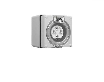 Clipsal 56So42 Four-Round 4-Pin Socket Outlet Power Connection 20A 500V