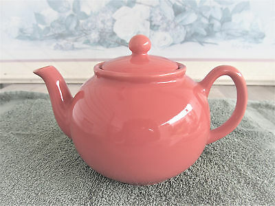 Vintage Pristine Orange Stoneware Teapot from England