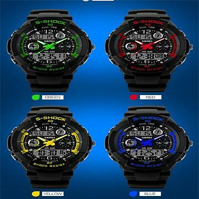 S-SHOCK Watch Sport Quartz Wrist Kid's Analog Digital Waterproof Military KC