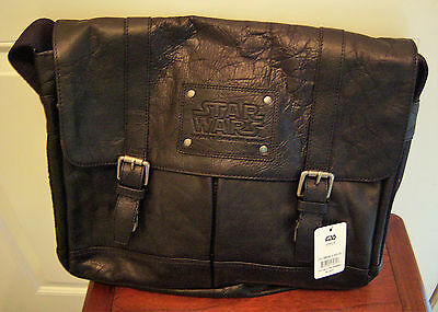 WDW Disney Cruise Line Star Wars Limited Edition Black Leather Messenger Bag
