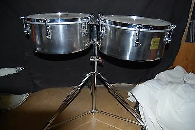 "JCR Stainless Steel  Timbales   14"" and 15"""