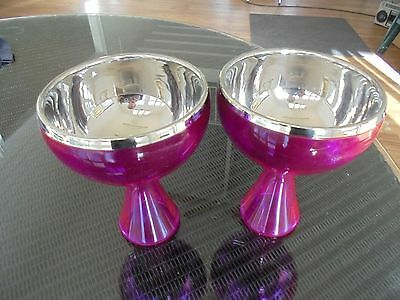 """Pair """"Alessi style"""" dessert comports"""