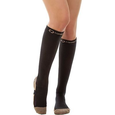 Copper Fit Energy Compression Socks Black S/M L/XL Unisex free shipping