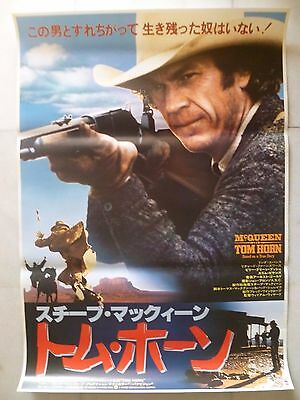1980 Steve McQueen, Tom Horn Japan B2 Movie Poster