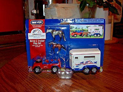 Breyer Horse New In Box Mini Whinnies WEG Jeep & Trailer Play Set