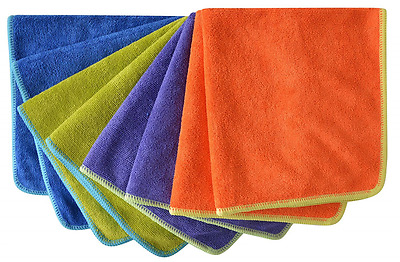 Microfiber Towel Car Wash Cleaning Kitchen Cleaning Cloths(pack of 8 Pieces) 4 C
