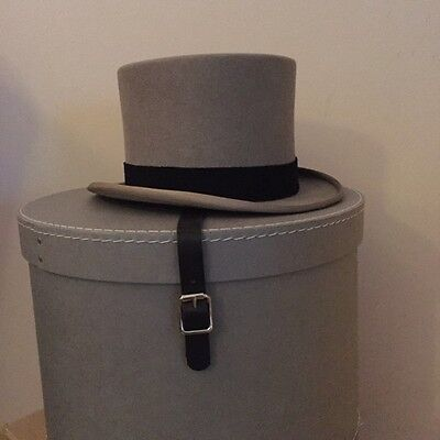 1950's Vintage Grey Felt Top Hat Moss Bros of Covent Garden W1