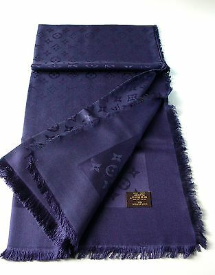 Louis Vuitton Monogram scarf blu .Original Authentic