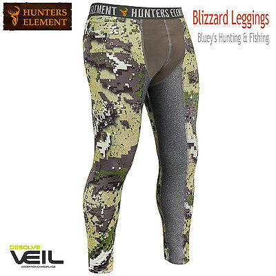 Hunters Element Mens Blizzard Veil camo Leggings ;Base Layer,warm,wicking