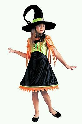 Candy Corn Twisted Witch Vampire Costume Girls Size Medium 7-8 FREE GIFT!