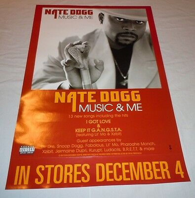 NATE DOGG~Music & Me~18x24 Promo Poster~Excellent Condition~