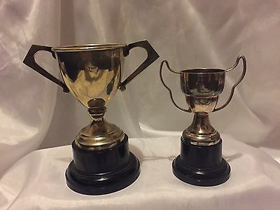 Vintage silver plated Trophies on Plinths