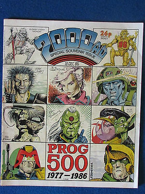 2000AD - Judge Dredd - Special Souvenir Issue - Prog 500 - December 1986