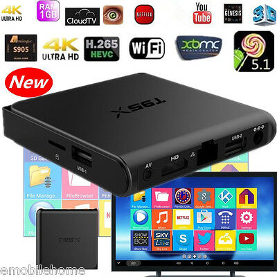 T95X S905X Mini Smart TV Box Amlogic 1G + 8G eMMC Quad Core Android 6.0 KODI FR