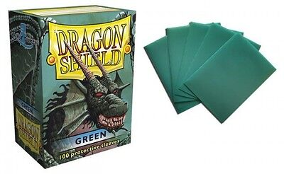 Dragon Shield - Green 100 protective Sleeves Cases Standard Card holder