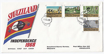 Y6015 Swaziland First day cover Independence 1968 Mbabane