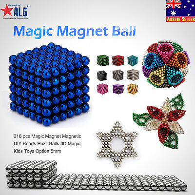 216 pcs Magic Magnet Magnetic DIY Beads Puzz Balls 3D Magic Kids Toys Option 5mm